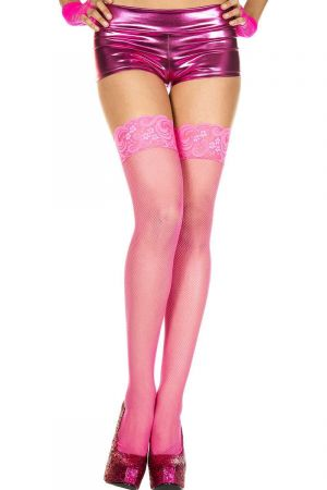 FENCE NET STOCKINGS PINK