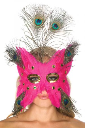 PINK PEACOCK MASK