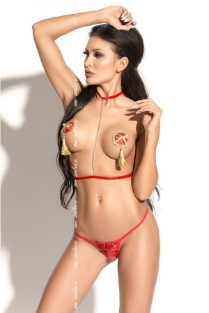 CHAIN BODY HARNESS RED