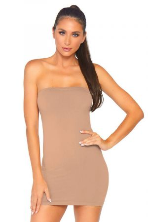 SEAMLESS BODYCON DRESS NUDE
