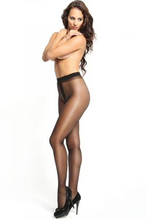 SHINY OPEN CROTCH PANTYHOSE BLACK