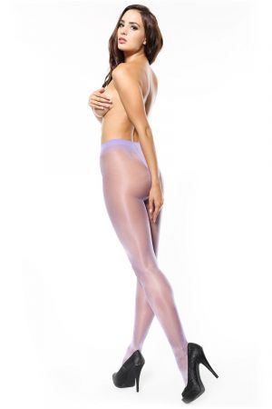 SHINY OPEN CROTCH PANTYHOSE LIGHT VIOLET