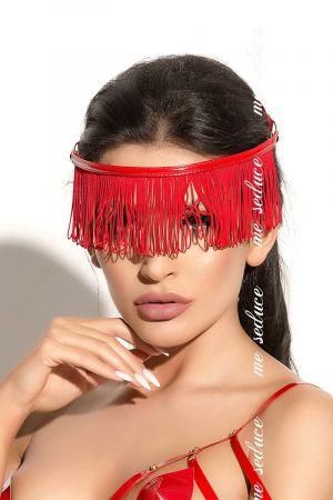 FRINGED BLINDFOLD RED