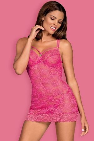 FLORAL CHEMISE PINK