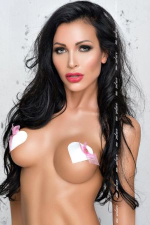 LEATHER HEART NIPPLE COVER WHITE